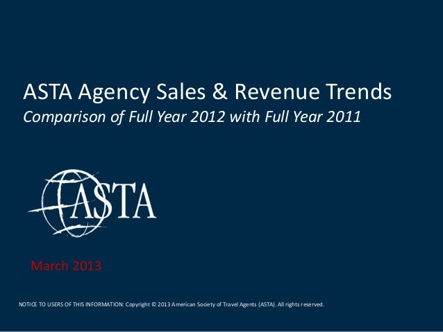 ASTA Agency Sales & Revenue Trends_FullYear 2012
