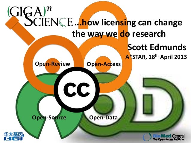 ...how licensing can change              the way we do research                             Scott Edmunds                 ...