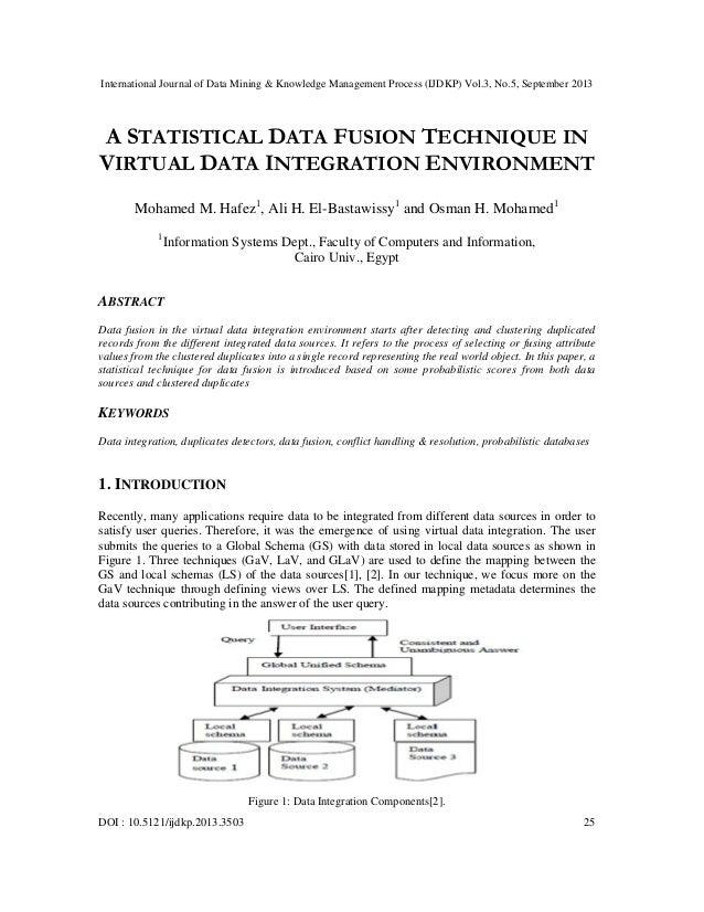 A statistical data fusion technique in virtual data integration environment