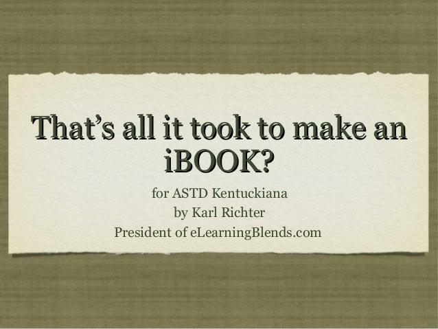 iBooks and iBooks Author