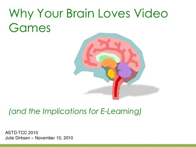 Why Your Brain Loves Video Games (and the Implications for E-Learning) ASTD-TCC 2010 Julie Dirksen – November 10, 2010