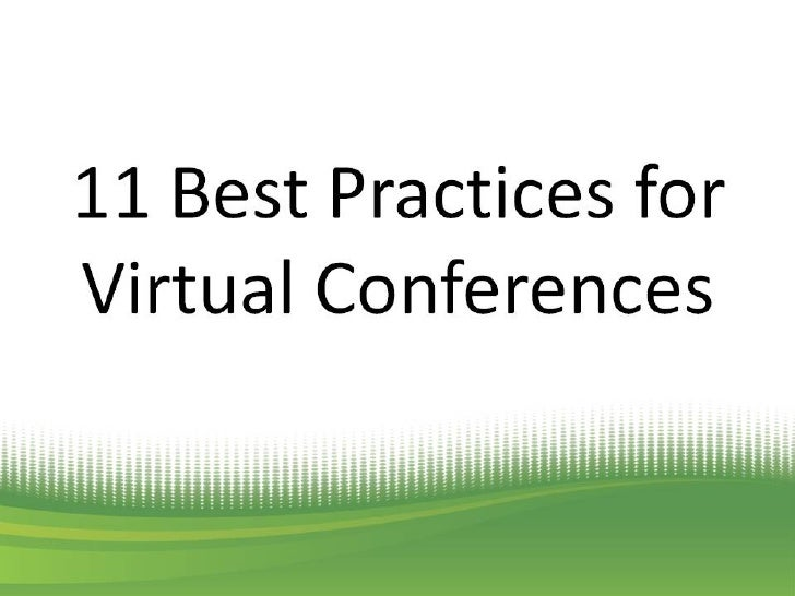 11 Best Practices for Virtual Conferences