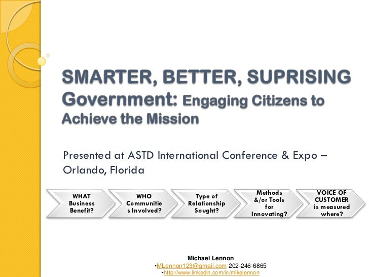 /Presented at ASTD International Conference & Expo –Orlando, Florida  WHAT          WHO               Type of             ...