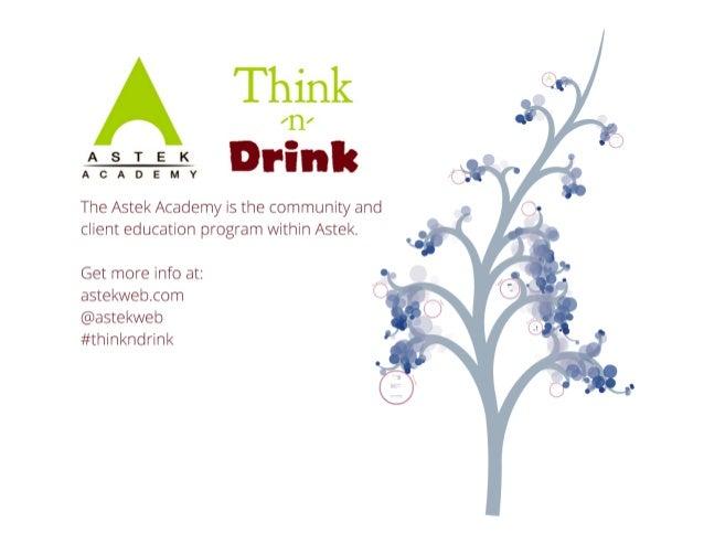 Astek Academy Think-n-Drink: Social Media for Events