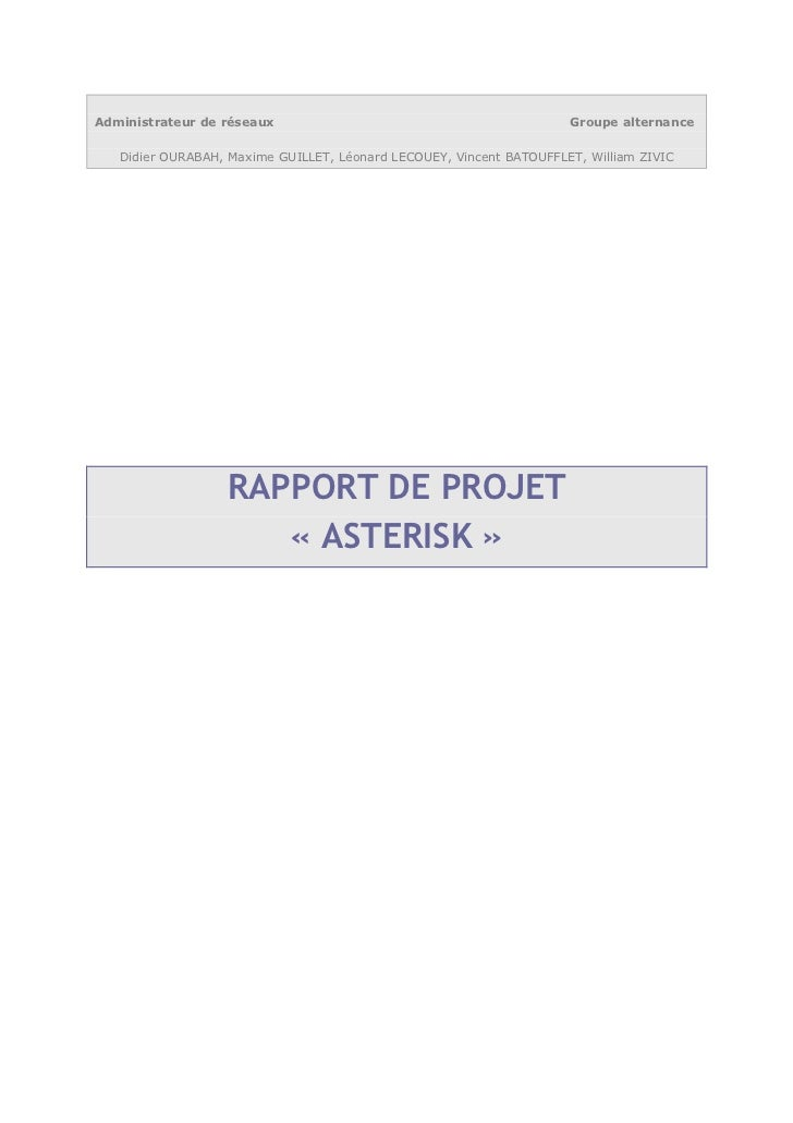 Administrateur de réseaux                                            Groupe alternance   Didier OURABAH, Maxime GUILLET, L...