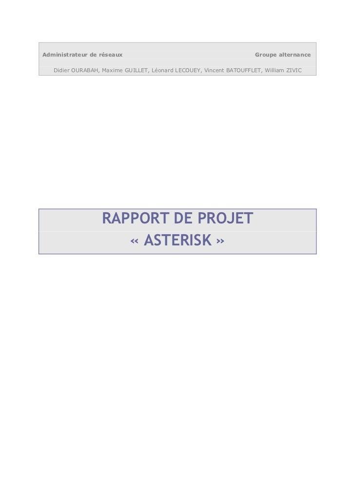 Asterisk report