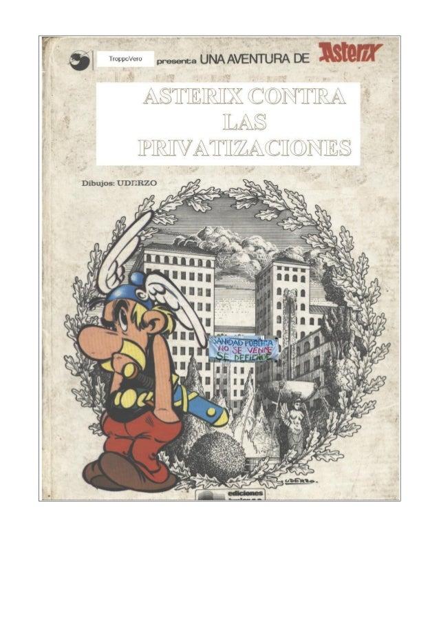 Asterix contra las privatizaciones