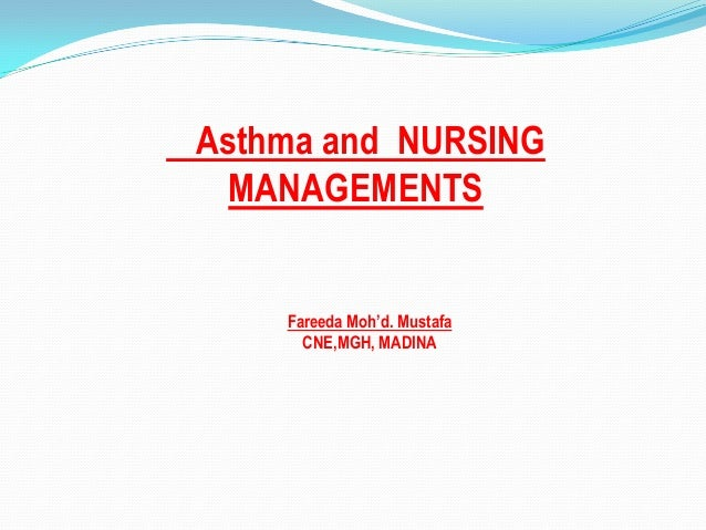 Asthma and nursing managements