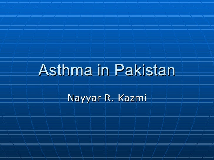 Asthma in pakistan