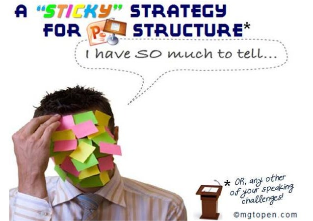 """A """"STICKY"""" Strategy for Structuring PowerPoint, Speeches & Meetings"""