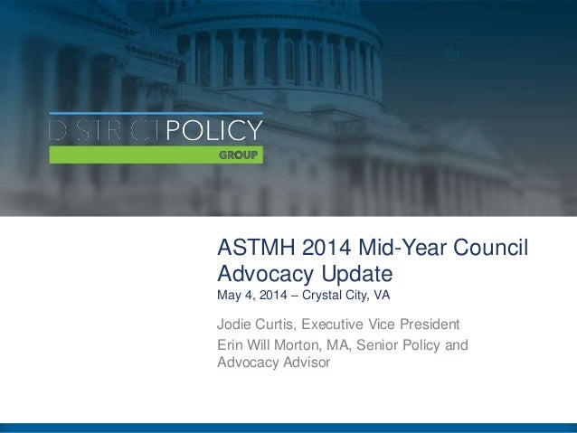 ASTMH Advocacy Update - May 2014