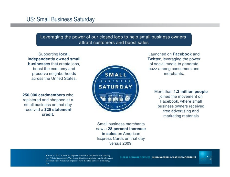 american express small business case study American express' lucrative small business saturday promotion is returning in 2015 here's what we know about the promotion so far.