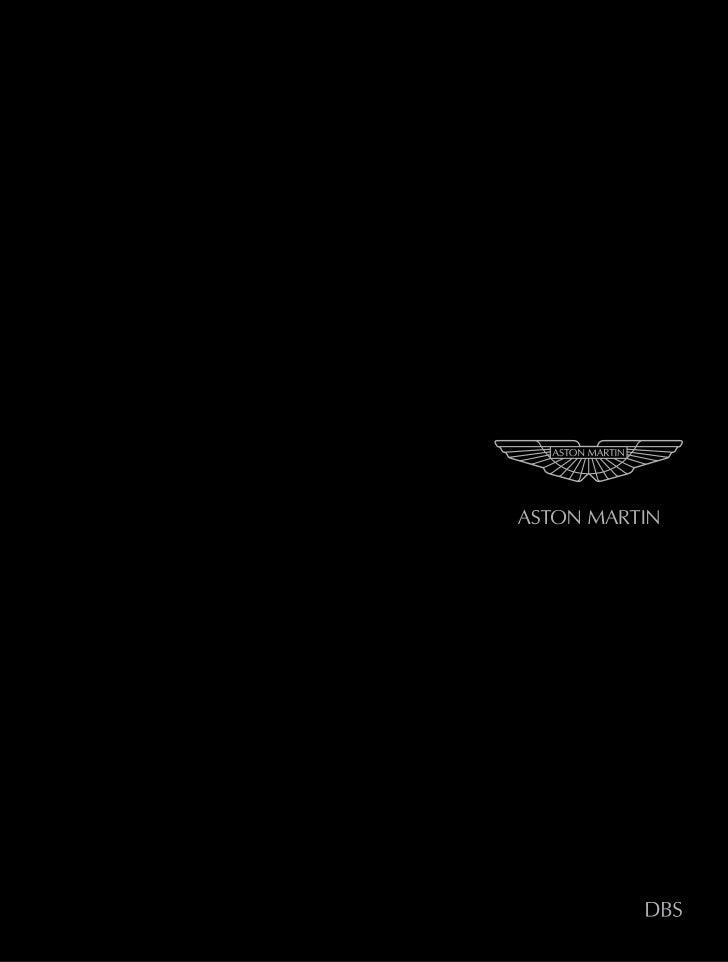 Aston martindbs brochure