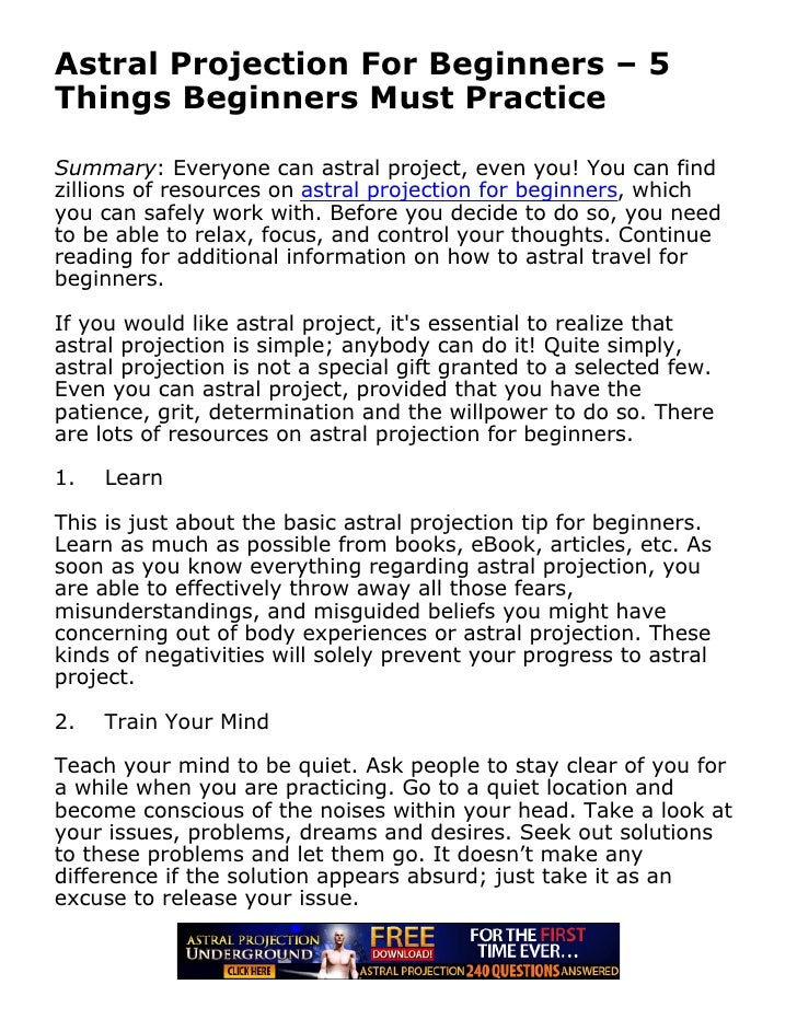 How to Perform Astral Projection photo