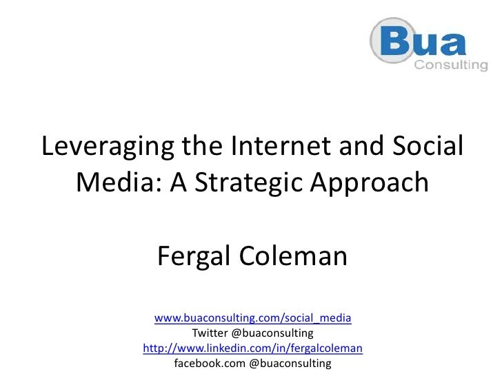 A Strategic Approach To Social Media For Business