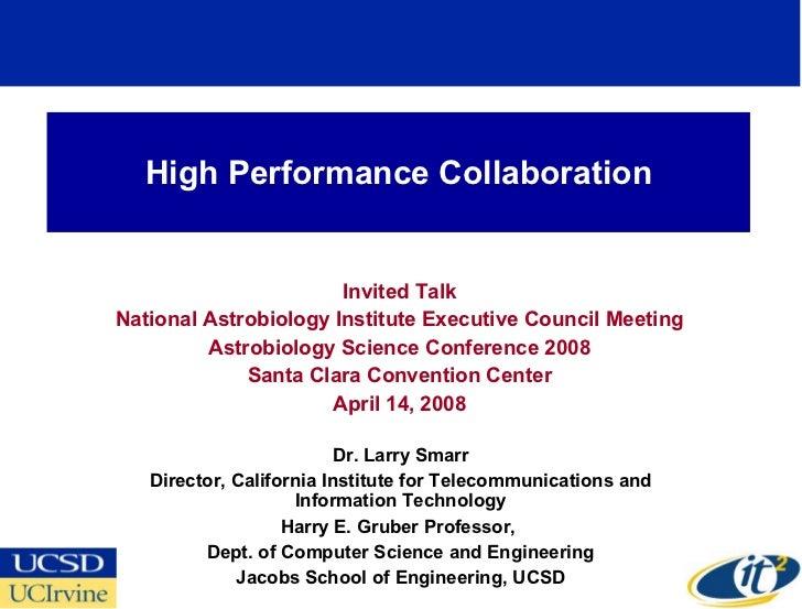 High Performance Collaboration