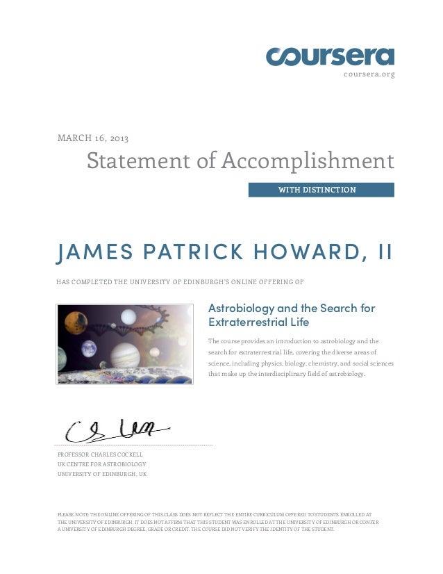 coursera.orgMARCH 16, 2013          Statement of Accomplishment                                                           ...