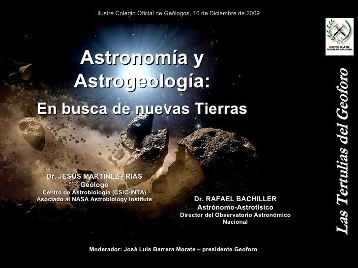 Astrogeología: En busca de nuevas Tierras