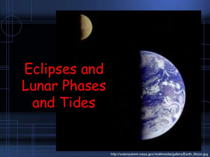 Eclipses and Lunar Phases and Tides<br />http://solarsystem.nasa.gov/multimedia/gallery/Earth_Moon.jpg<br />