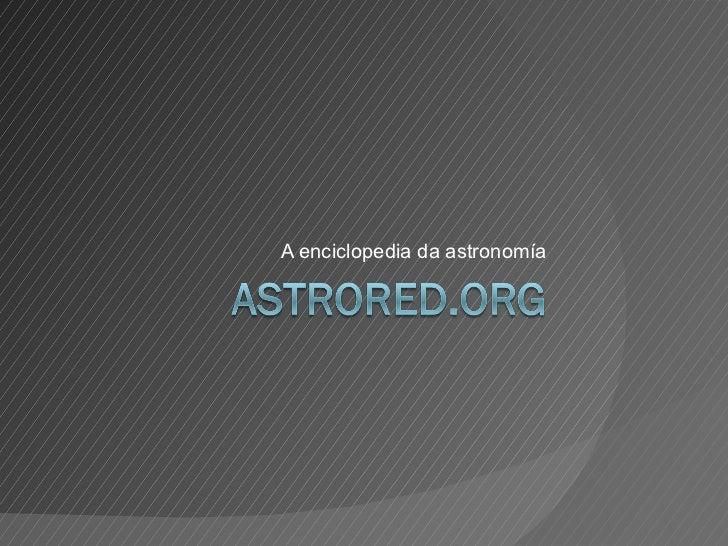 A enciclopedia da astronomía