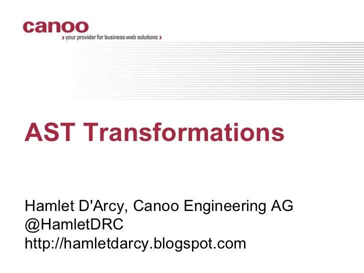 AST Transformations at JFokus