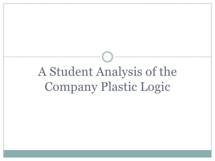 A Student Analysis of the Company Plastic Logic