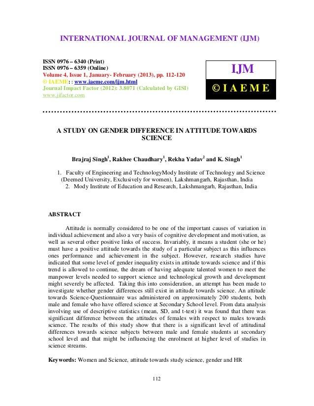 International Journal of Management (IJM), ISSN MANAGEMENT (IJM) –       INTERNATIONAL JOURNAL OF 0976 – 6502(Print), ISSN...