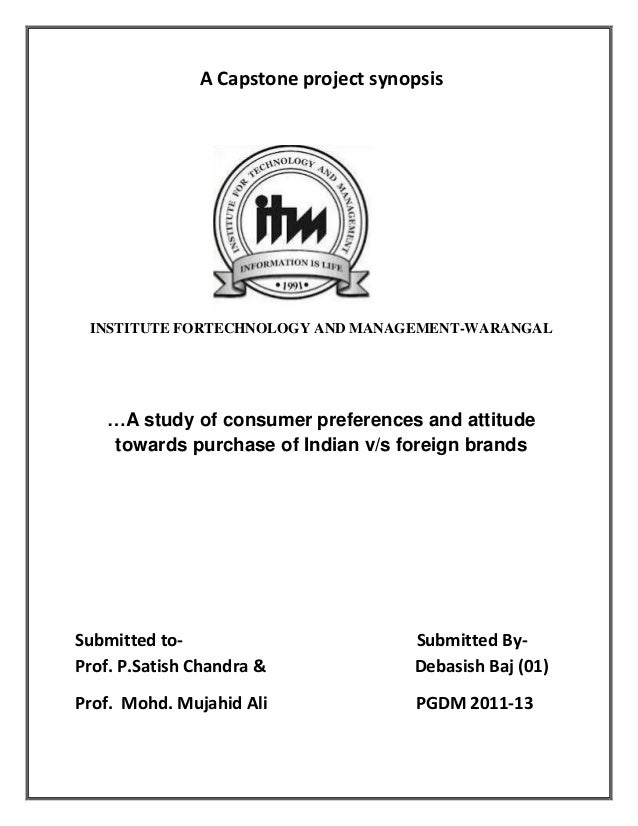 A study of consumer preferences and attitude towards purchase of indian v