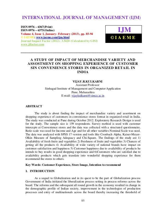 INTERNATIONAL JOURNAL OF MANAGEMENT (IJM) International Journal of Management (IJM), ISSN 0976 – 6502(Print), ISSN 0976 – ...
