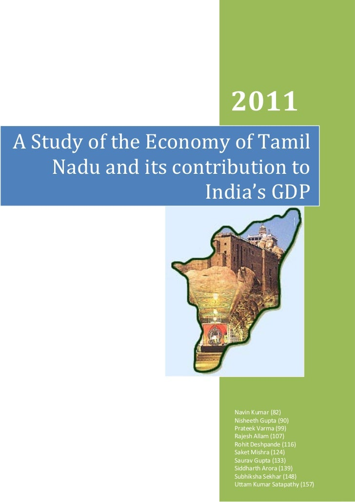 2011A Study of the Economy of Tamil    Nadu and its contribution to                    India's GDP                       N...
