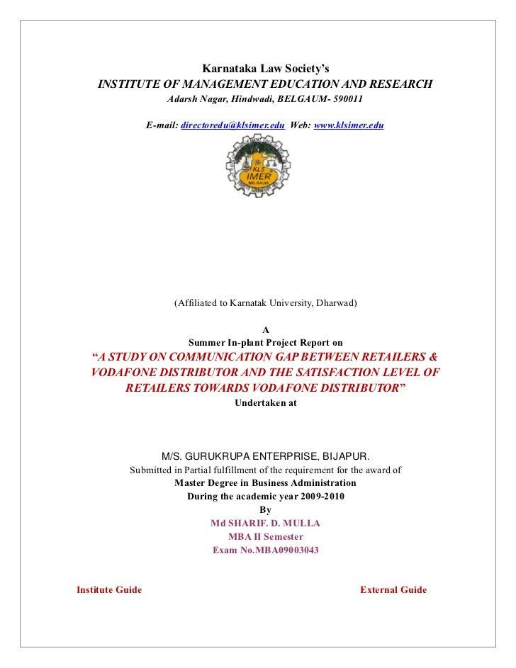 Karnataka Law Society's    INSTITUTE OF MANAGEMENT EDUCATION AND RESEARCH                      Adarsh Nagar, Hindwadi, BEL...