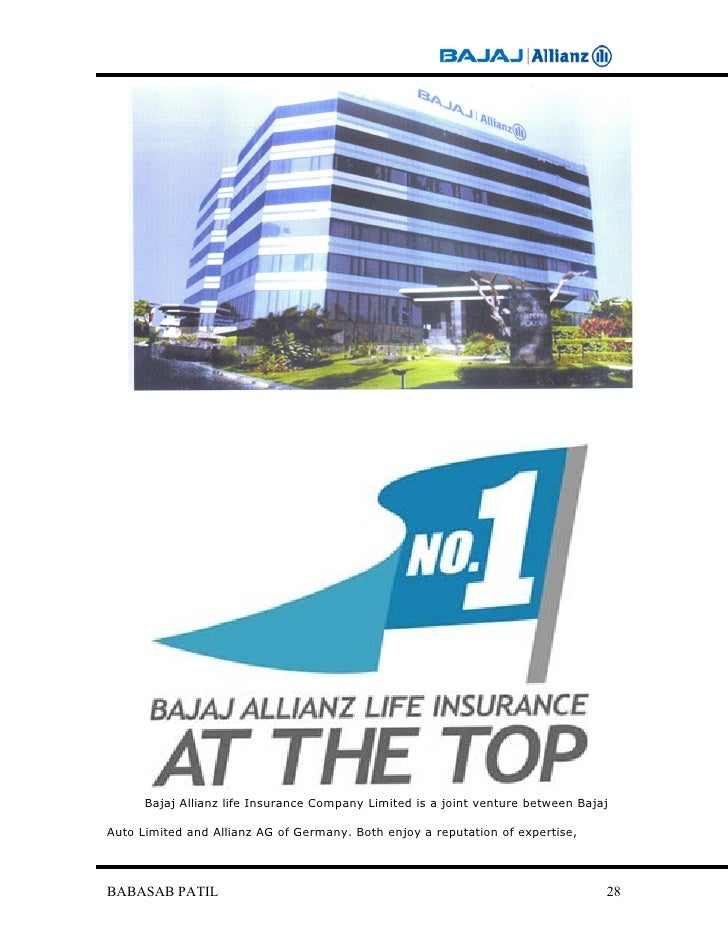 a project report on employee motivation of bajaj allianz Project topics human resource management mba 2018 life insurance agency as a career for bajaj allianz life a project report on employee.
