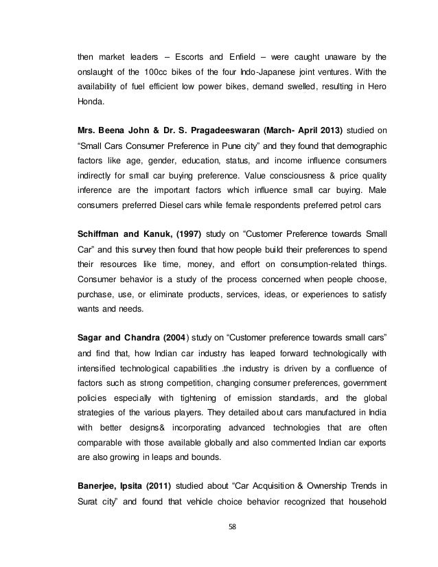 a study on customer satisfaction towards various brands of two wheelers in chennai city Factors influencing preferences of big bazaar retail consumers in chennai the big bazaar store in express avenue based in chennai city, to find out the customer in their study on understanding customer satisfaction.