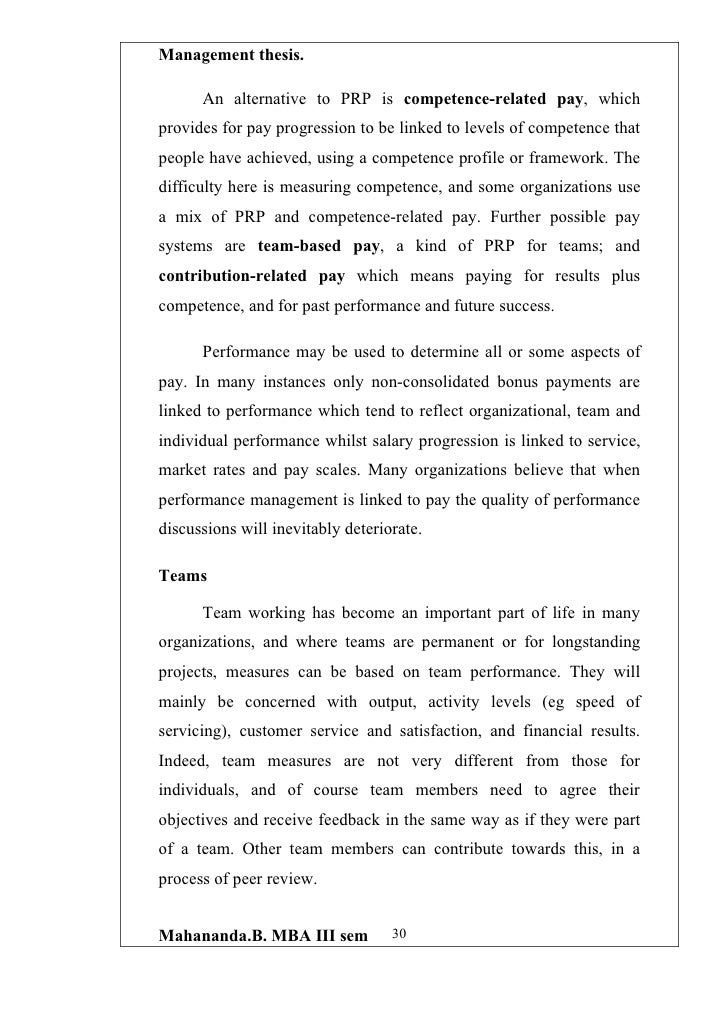 performance related pay dissertation This paper examines job satisfaction and employees' turnover intentions in total nigeria plc in lagos state  considered satisfaction with pay,  performance.
