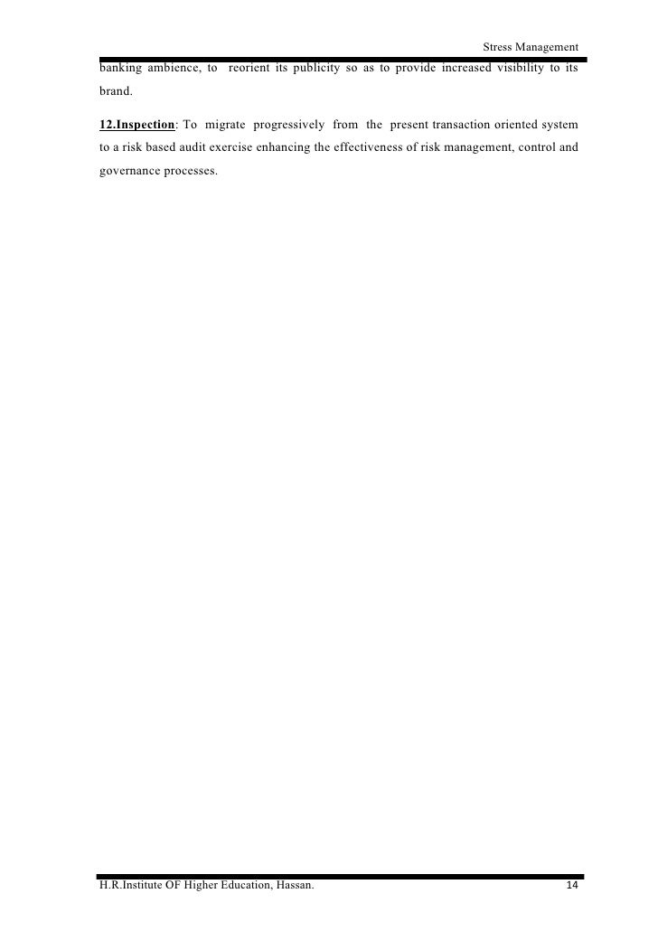 Literature review of stress management