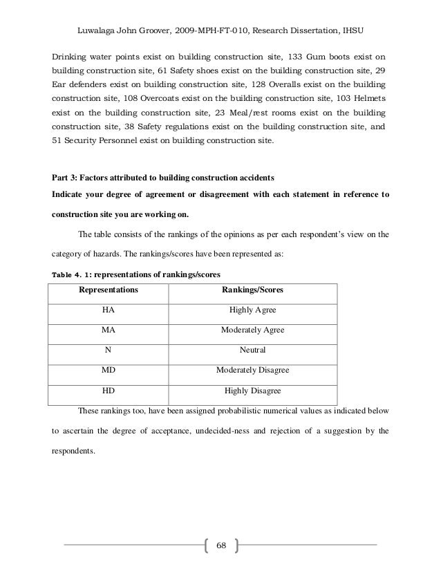 Dissertation In Construction Management