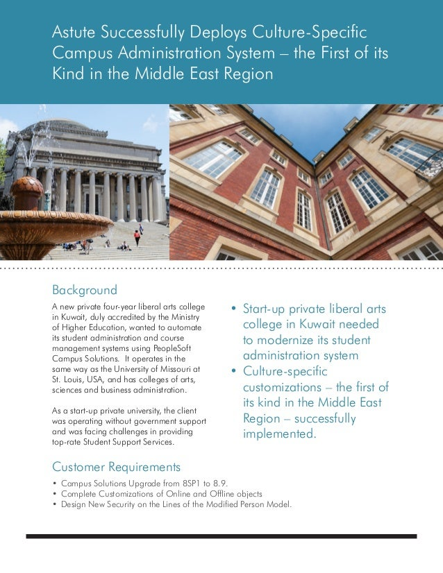 Astute Case Study - Implementation for Middle-East University