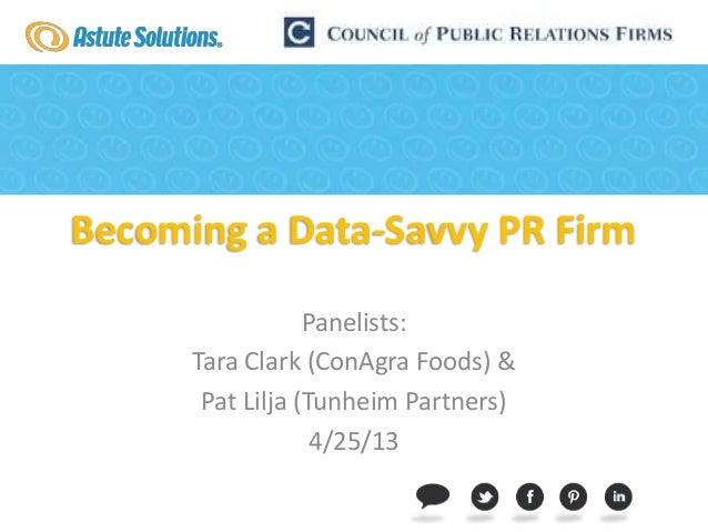 The Data Savvy PR Firm