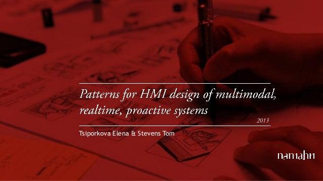 Astute symposium 2013-10-10_hmi_design_patterns_elenatsiporkova_tomstevens
