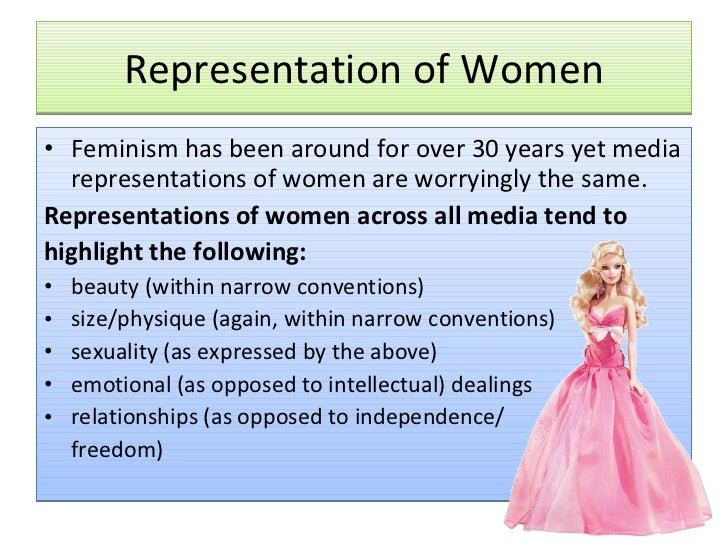 the role and representation of women Whatever the role » gender representation » women and girls » introduction media portrayals of girls and women - introduction.