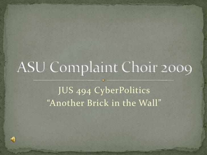 Asu Complaint Choir 2009