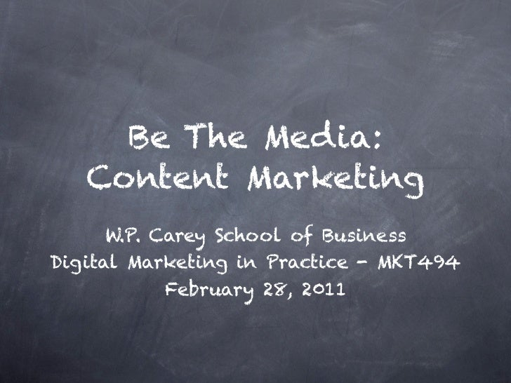 Content Marketing: Be The Media