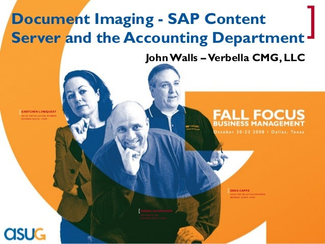 Document Imaging - SAP Content Server and the Accounting Department