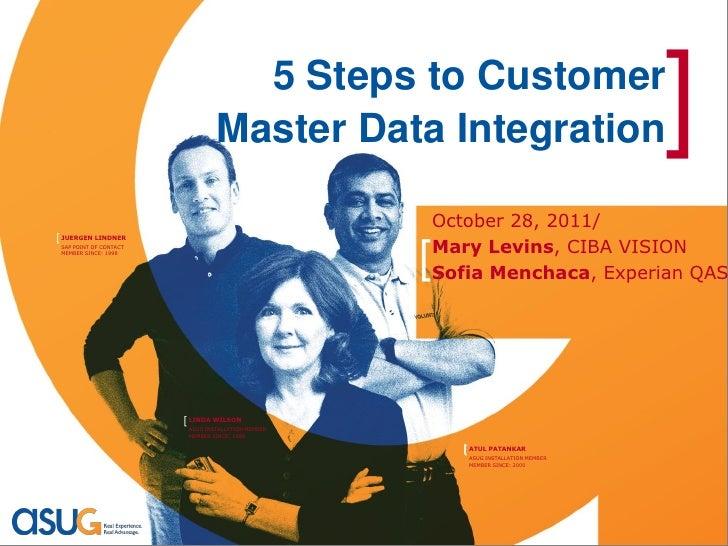 5 Steps to Customer                                 Master Data Integration                            ]                  ...