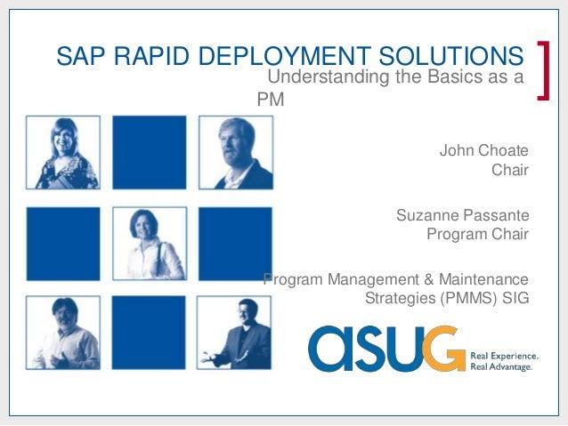 RDS - Understanding the SAP Basics of Rapid Deployment Solutions