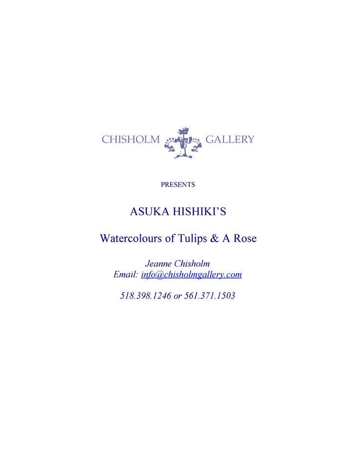 Asuka Watercolours Tulips Rose, CHISHOLM GALLERY, LLC