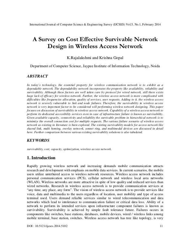 International Journal of Computer Science & Engineering Survey (IJCSES) Vol.5, No.1, February 2014 DOI : 10.5121/ijcses.20...