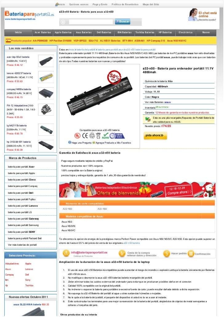 Asus a32 n50 bateria compatible de asus n50 n50 vc