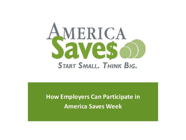 How Employers Can Participate in America Saves Week