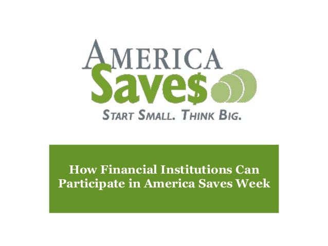 How Financial Institutions Can Participate in America Saves Week